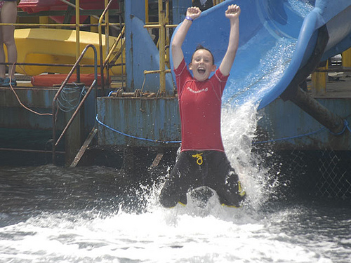water-slide