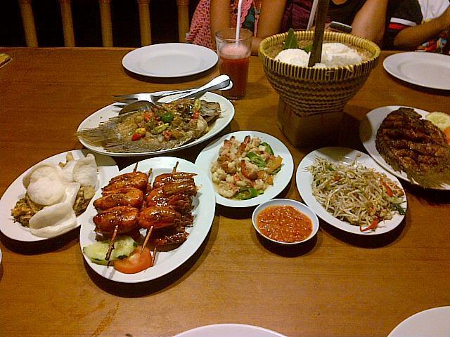 menu makan bale udang