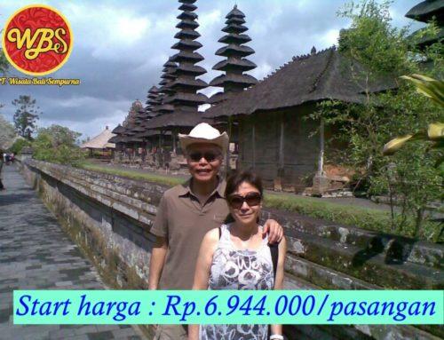 Paket Bulan Madu di Bali 5 Hari 4 Malam : Edisi Paket Complete
